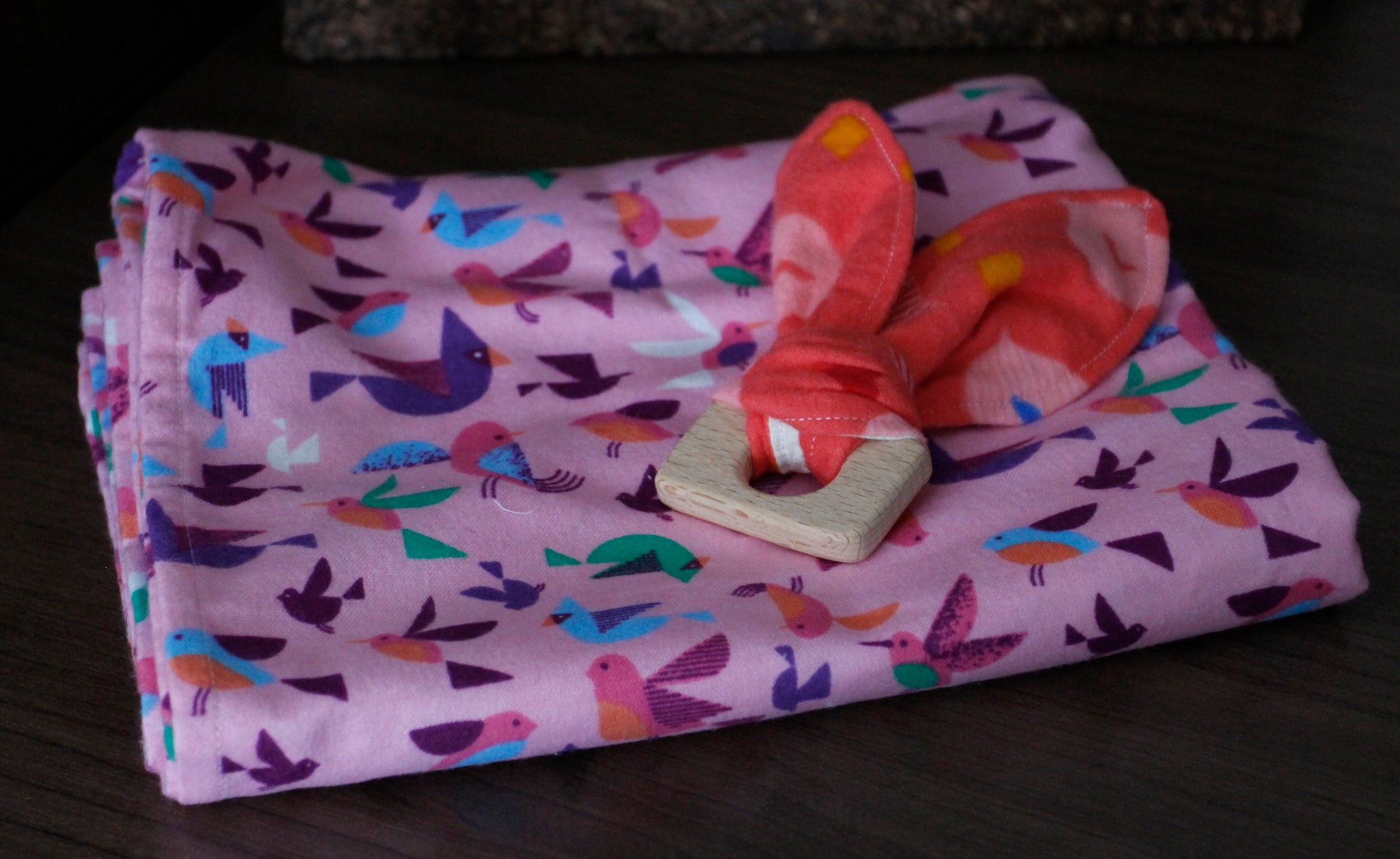 Baby Blanket and Bunny Teether Pack
