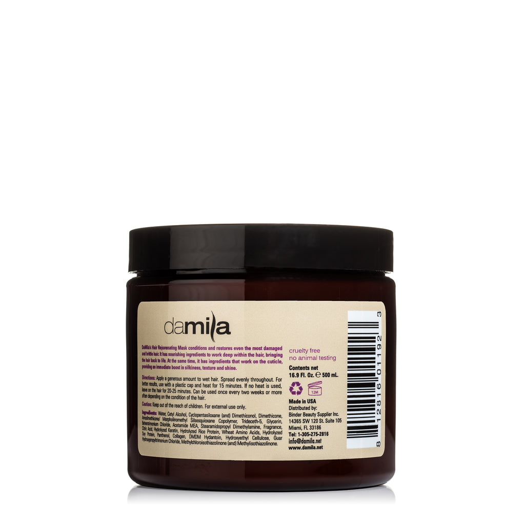 Deep Treatment Keratin Hair Mask back side with ingredients