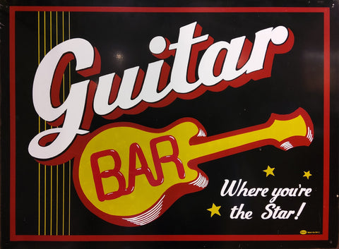 Guitar Bar Tin Sign
