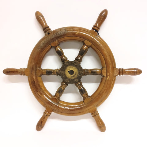 Vintage Ship Steering Wheel