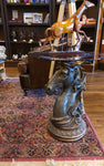 Cast Horse Head End Table