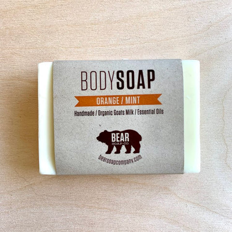 Bear Soap Orange/Mint Bar