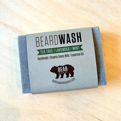 Bear Soap Beard Wash Bar - Tea Tree/Lavender/Mint