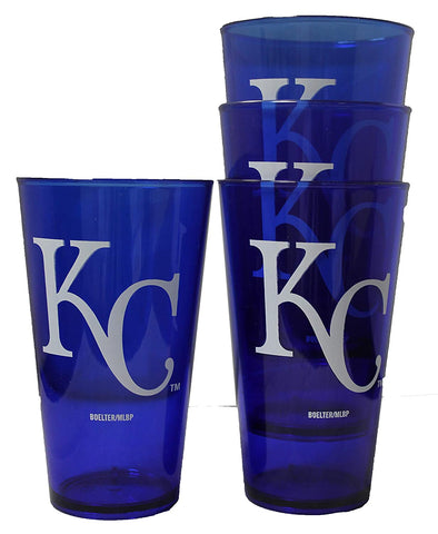 Royals 4pk Plastic Pint Glasses
