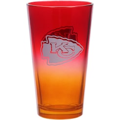 Chiefs 16oz  Ombre Design Pint Glass