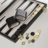 Brouk & Co. Backgammon Board - Faux Black Crocodile