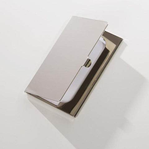 Brouk & Co. Silver Metal Card Case