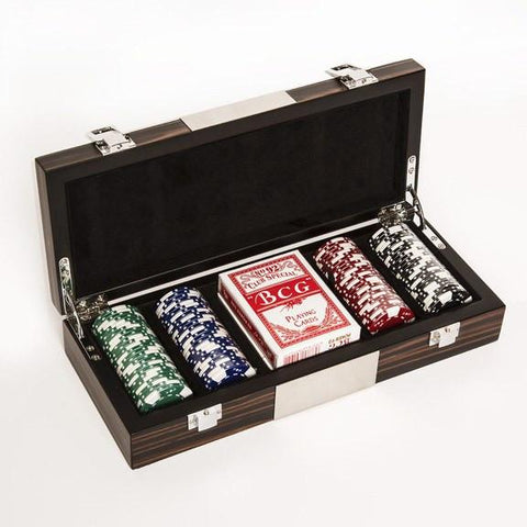 Brouk & Co. Ebony Boxed Poker Set