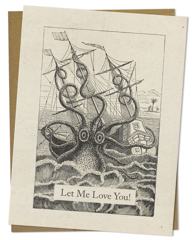 Greeting Card - Kraken - Let Me Love You!