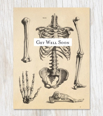 Greeting Card - Skeleton - Get Well