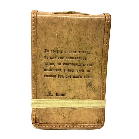 Leather Quote Journal 4x6