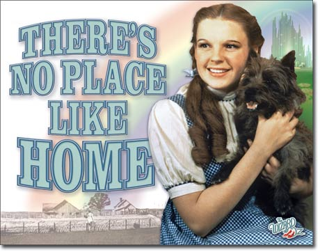 "Tin Sign ""WOZ - No Place Like Home"""