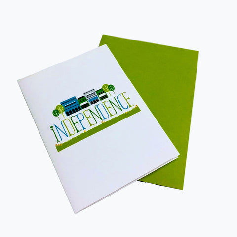 "Independence ""My Town"" Greeting Card"