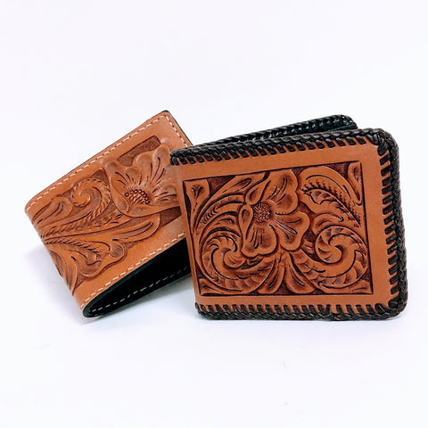 Hand Made Tooled Leather Wallet
