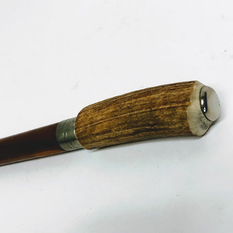 Natural Antler and Button Top Walking Stick