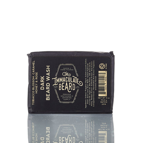 The Immaculate Beard Dark Beard Wash Bar