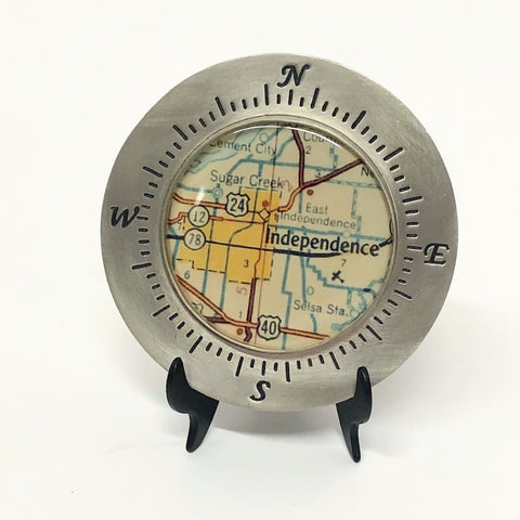 Map of Independence Paperweight