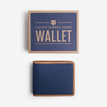 Canvas Wallet w/ Leather Trim - Navy