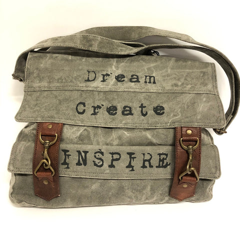 "Messenger Bag - ""Dream Create Inspire"""