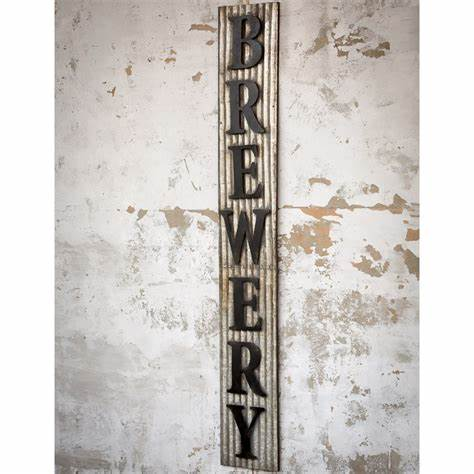 Corrugated Metal Brewery Sign