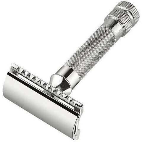 Lightweight Textured Handle Butterfly Open Safety Razor