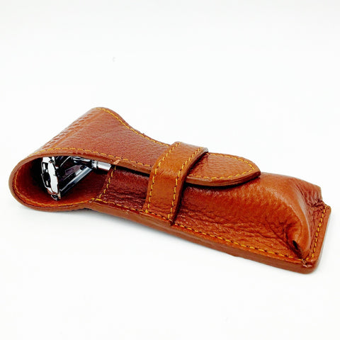 Deluxe Leather Safety Razor Case