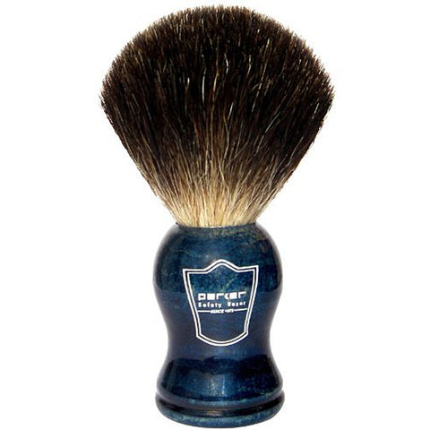 Blue Wood Handle Black Badger Shave Brush