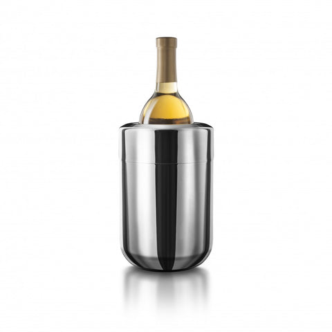 Stainless Wine Chiller with Freezer Inserts