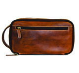Rugged Earth Leather Toiletry Bag