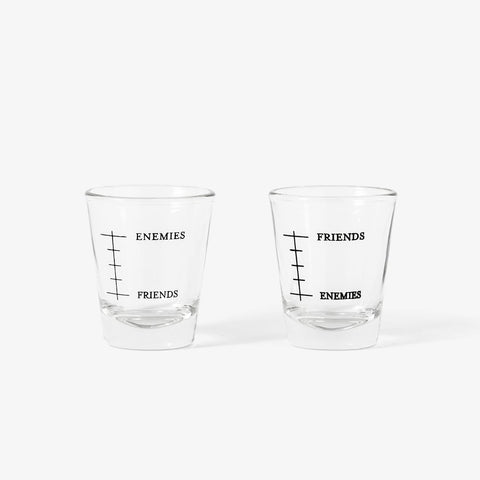 Friends & Enemies Shot Glasses