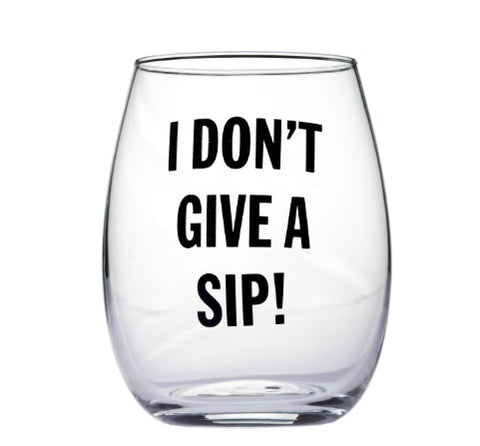 Snark City Stemless Wine Glass - Assorted Quotes