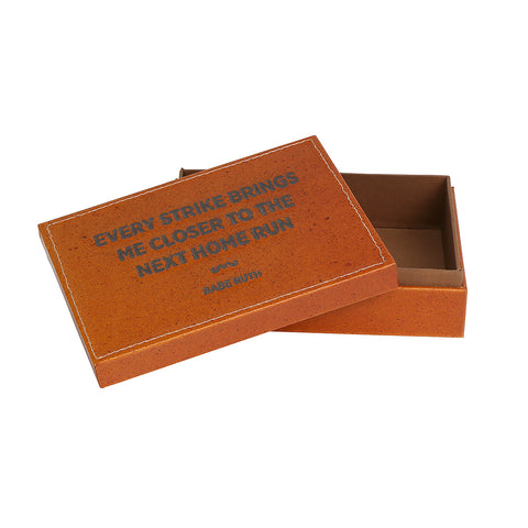 Leather Quote Box