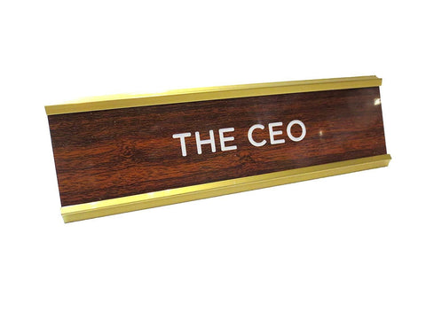 CEO Desktop Name Plate