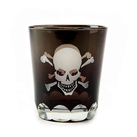 Skellington Etched Old Fashion Glass