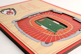 KC Chiefs 5-Layer 3D Stadium