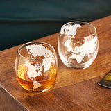 Globe Whiskey Tumblers (set of two)