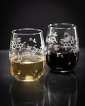 Wine Chemistry stemless wine glass set of two