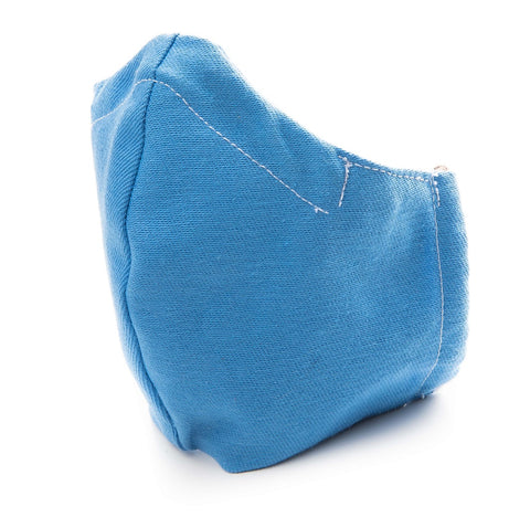 100% Cotton Washable Double-layered Protective Face Mask (Light Blue)