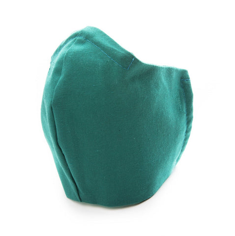 Golf Green Cotton Fabric Protective Face Mask DOUBLE layered