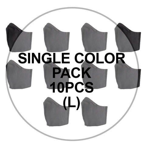 Value Single Color Large Face Mask Pack (10pcs)