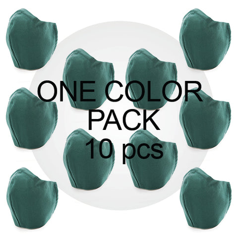 Value Single Color Medium Face Mask Pack (10pcs)