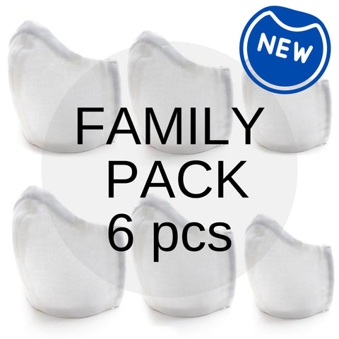 FAMILY VALUE PACK Organic Cotton Fabric Face Mask (6 pcs)