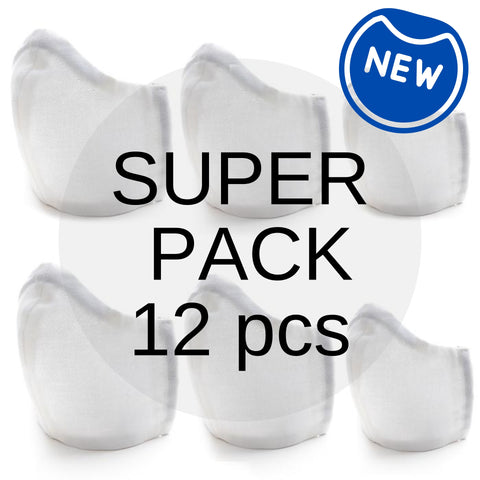 SUPER FAMILY VALUE PACK Organic Cotton Fabric Face Mask (12 pcs)