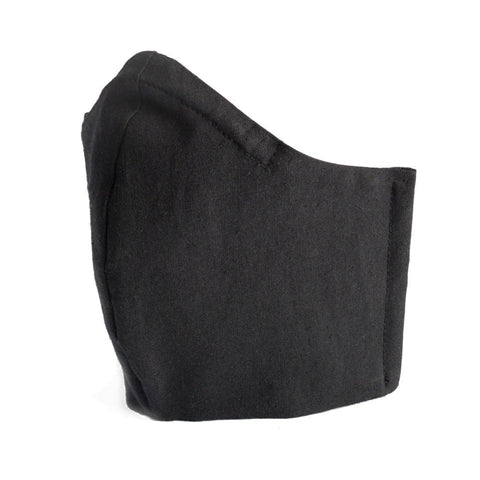 Black Cotton Fabric Protective Face Mask DOUBLE layered