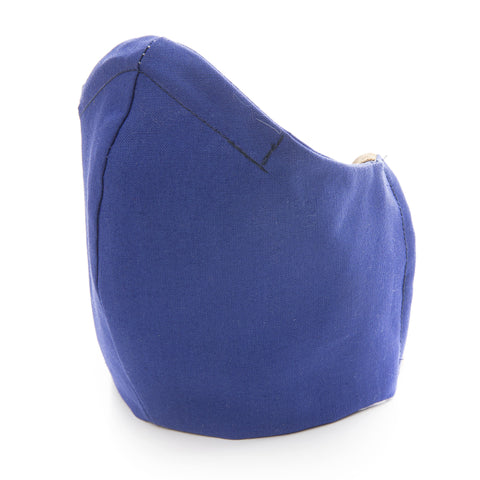 100% Cotton Washable Double-layered Protective Face Mask (Dark Blue)