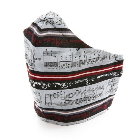 Musical Design Cotton Fabric Protective Face Mask DOUBLE Layered