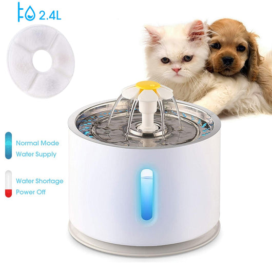 Automatic Drinking Fountain - Flower Style Cat Bowl (2.4L)