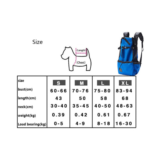 Breathable Dog Carrier Backpack For Big Dogs