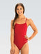 Dolfin Graphlite Series Solid Cross Back Swimsuit - Red