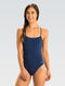 Dolfin Graphlite Series Solid Cross Back Swimsuit - Navy